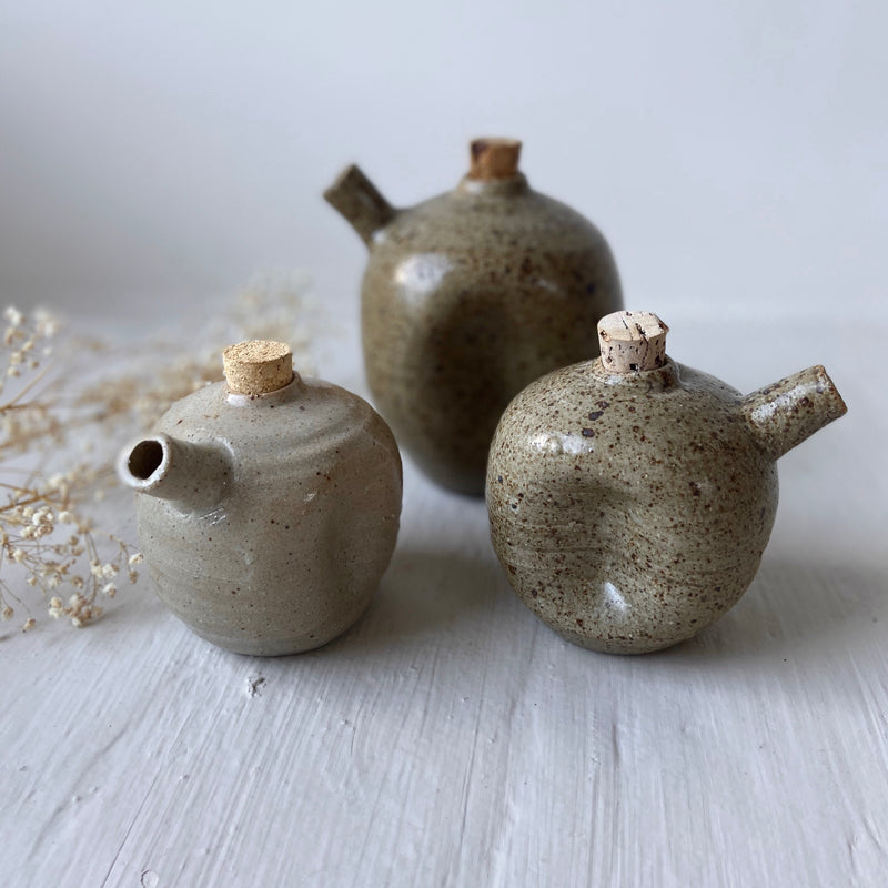 Small Clay Oil Decanter