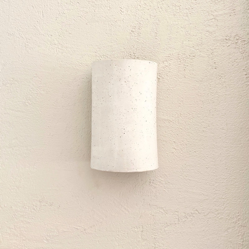 White Freckle Clay Wall Shade