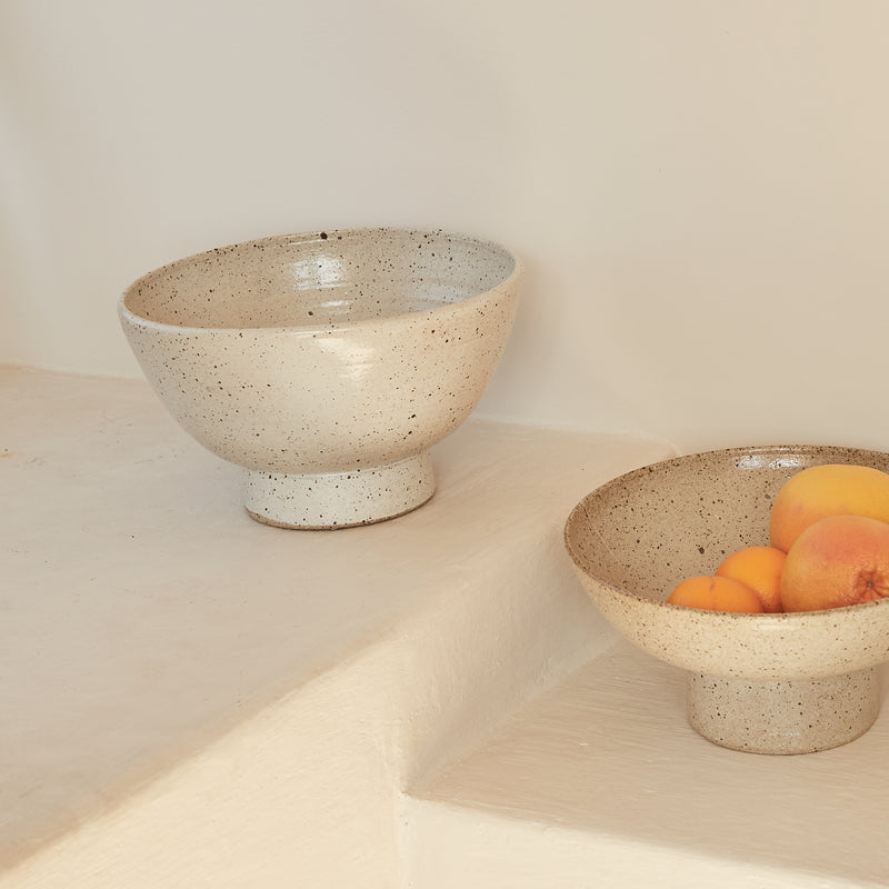 Recycled Clay Deep Centrepiece Bowl
