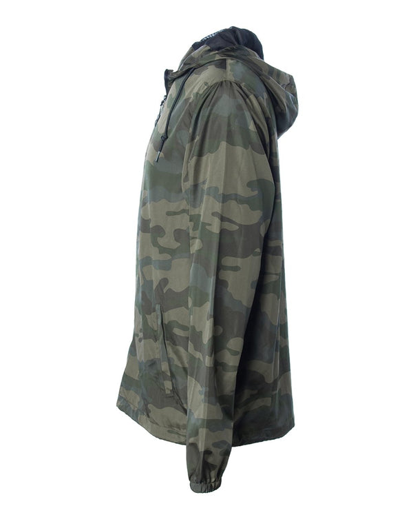 Light Hooded Windbreaker - Camo