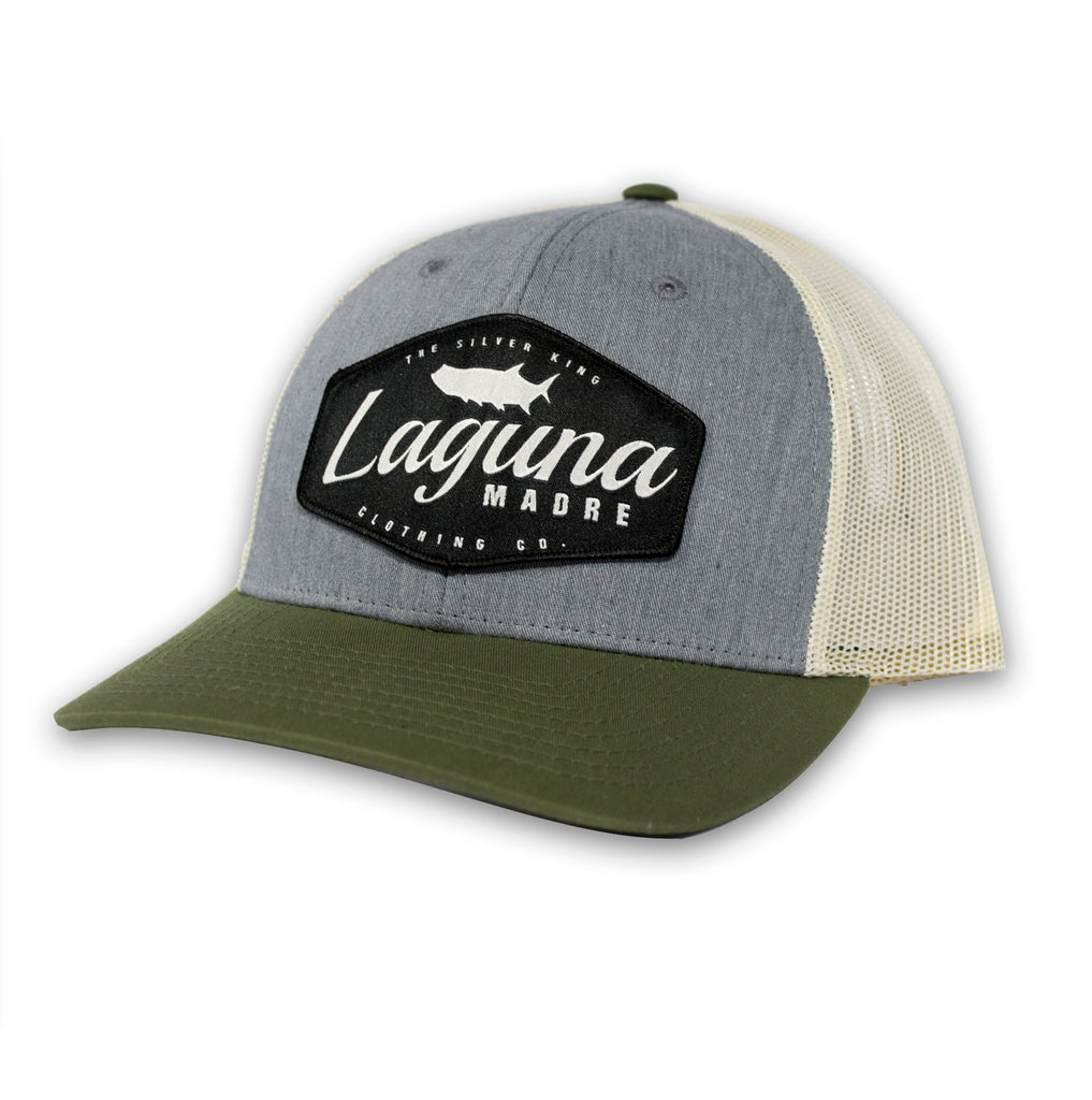 The Silver King Snapback - Olive Tri-Color