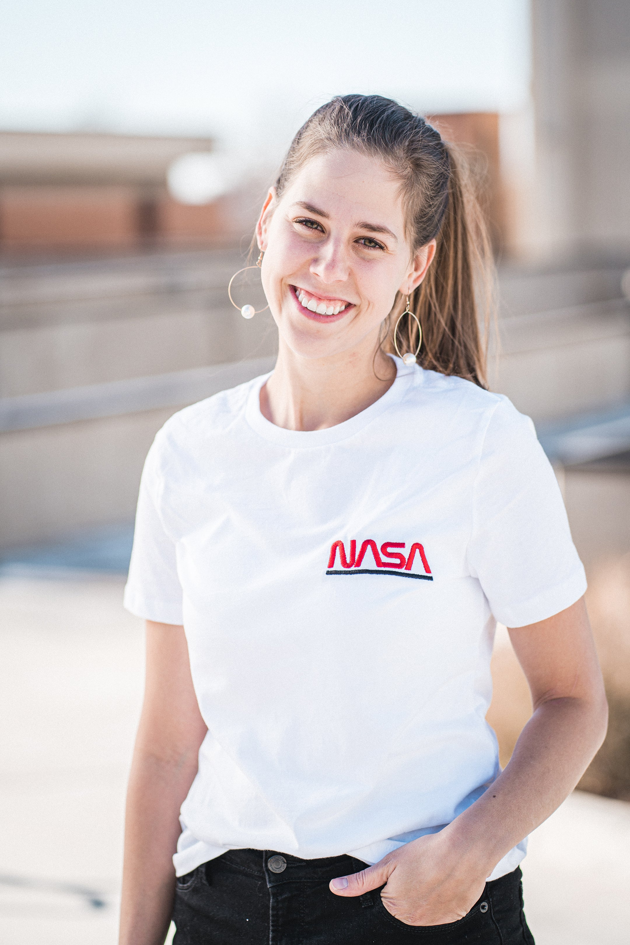 Embroidered NASA Logo T-shirt