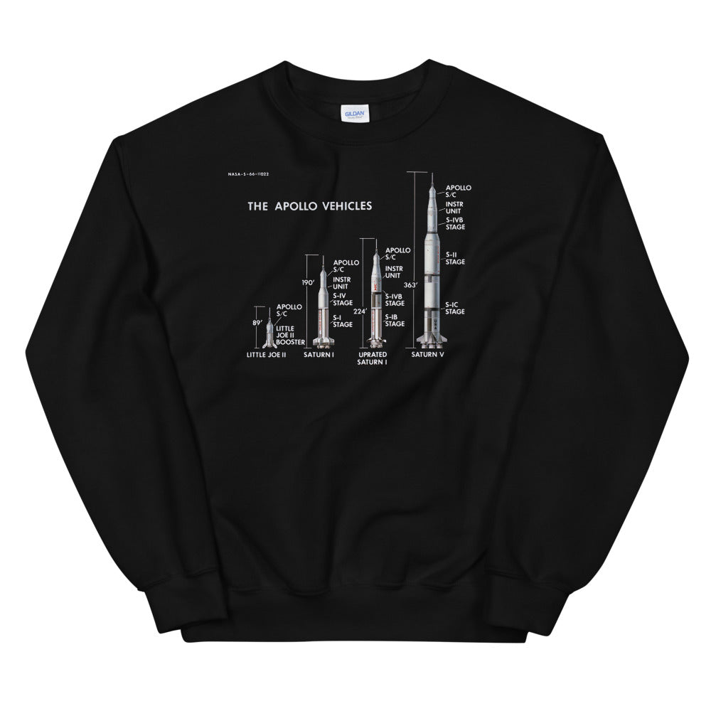 NASA Apollo Vehicles Crew Sweatshirt
