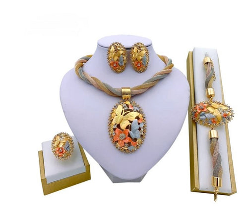 Womens 4pc Dubai Style Jewellery Set with Attractive African Influence