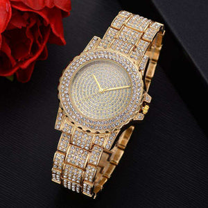 Mens Iced Out Bling Luxury Quartz Hip Hop Watch Silver, Gold & Rose Gold Was £59.95 Now £34.95