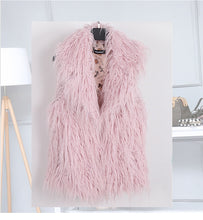 Load image into Gallery viewer, Plus Sizes Soft Faux Fur Pink Sleeveless Jacket Sizes S - 7XL Uk