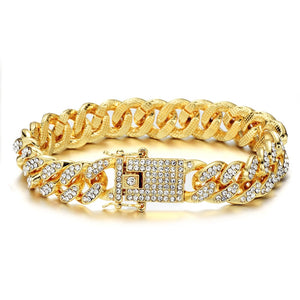 Gold Chain, Watch, Bracelet Collection for Lovers of Hip Hop Rapper Jewelry Iced Out Paved CZ Stones