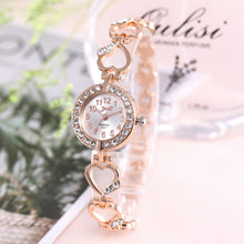 Load image into Gallery viewer, Luxury Rhinestone Bracelet Watch in Rose Gold or Silver