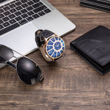 Load image into Gallery viewer, Men Luxury Watch, Wallet & Sunglasses Gift Set in Brown or Black