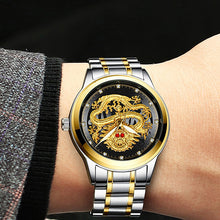 Load image into Gallery viewer, Mens Luxury Rhinestone Dragon Watch in 9 Styles Was £69.96 Now £35.68