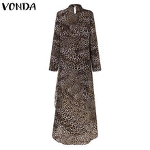 Load image into Gallery viewer, Womens Long Shirt Tunic in Leopard Print in Sizes 8-22 UK