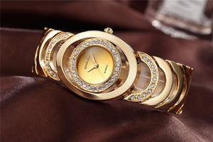Womens Luxury Bracelet Watch with Rhinestone Detail in 4 Colours