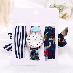 3pcs Watch Set with Additional Wrist Strap Ties
