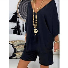Load image into Gallery viewer, Women's Casual 2 PC Loose Shirt and Shorts Set 4 Colours Sizes 8-20 UK