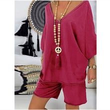 Load image into Gallery viewer, womens Casual 2 Pc Loose shirt and shorts Set 4 Colours Sizes 8-20 Uk Was £37.80 Now £24.75