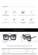 Load image into Gallery viewer, Oversized Womens Gradient Sunglasses All Colours