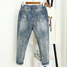 Load image into Gallery viewer, Womens Ripped Boyfriend Jeans in Loose Vintage Style All Sizes up to Plus Size
