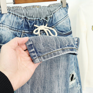 Womens Ripped Boyfriend Jeans in Loose Vintage Style All Sizes up to Plus Size