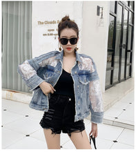 Load image into Gallery viewer, Streetwear Denim Jeans Jacket in Sizes in 8-18 UK