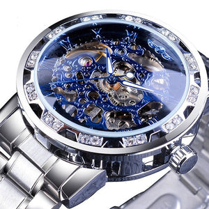 Mens Luxury Skeleton Watch Retro Design with Mechanical Movement in Different Variations