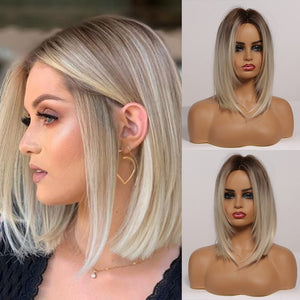 Fashionable Ombre Wig in Layered Bob Style in Several Shades