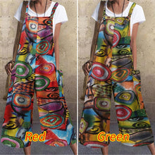 Load image into Gallery viewer, Womens Streetwear Loose Fit Overalls Dungarees Styled in Vintage Print in Sizes 8 - 24 UK