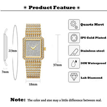 Load image into Gallery viewer, Perfect Gift Luxury Womens Iced Out Watch in Gold or Silver