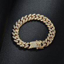 Load image into Gallery viewer, Gold Chain, Watch, Bracelet Collection for Lovers of Hip Hop Rapper Jewelry Iced Out Paved CZ Stones