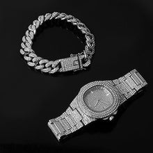 Load image into Gallery viewer, Gold Chain, Watch, Bracelet Collection for Lovers of Hip Hop Rapper Jewellery Iced Out Paved CZ Stones