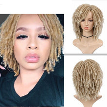 Load image into Gallery viewer, Dreadlock Curly Short Twist Wig Natural Looking in Different Colours