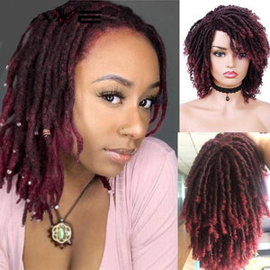 Dreadlock Curly Short Twist Wig Natural Looking in Different Colours