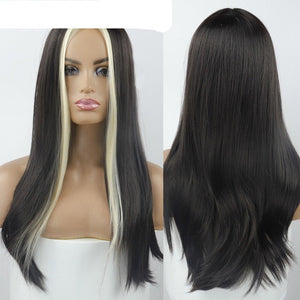 Stunning Two Tone Long Straight Wig in 8 Colours Length 22""