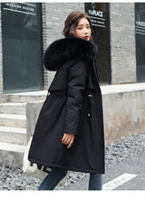 Load image into Gallery viewer, Plus Size Winter Hooded Fur Trim Fleece Lined Parka Coat Sizes M to Plus Size 6XL in 5 Colours