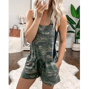 Casual Army Leisure Playsuit Perfect day or Night Wear Camouflage Print Sizes 6-14 Uk