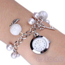 Load image into Gallery viewer, Bracelet Wrist Watch with Pearl Detail