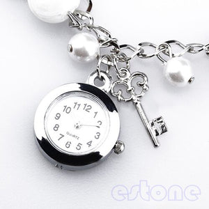 Bracelet Wrist Watch with Pearl Detail