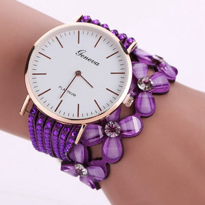 Crystal Bracelet Wrist Watch in 9 Different Colours