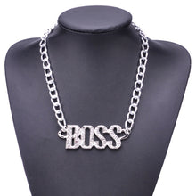 Load image into Gallery viewer, Fabulous Crystal Boss Pendant Chain Necklace in Gold or Silver for Men or Women