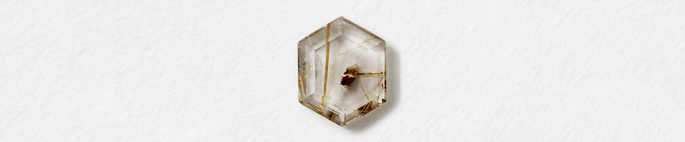 Hexagon (Rutilated Quartz)