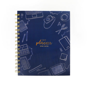 Daily Planner (Blue) - 7mm - Fine Paper Stationery
