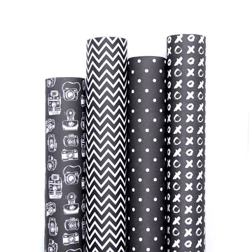 Gift Wrappers (Monochrome Darks) - 7mm - Fine Paper Stationery
