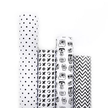 Gift Wrappers (Monochrome) - 7mm - Fine Paper Stationery