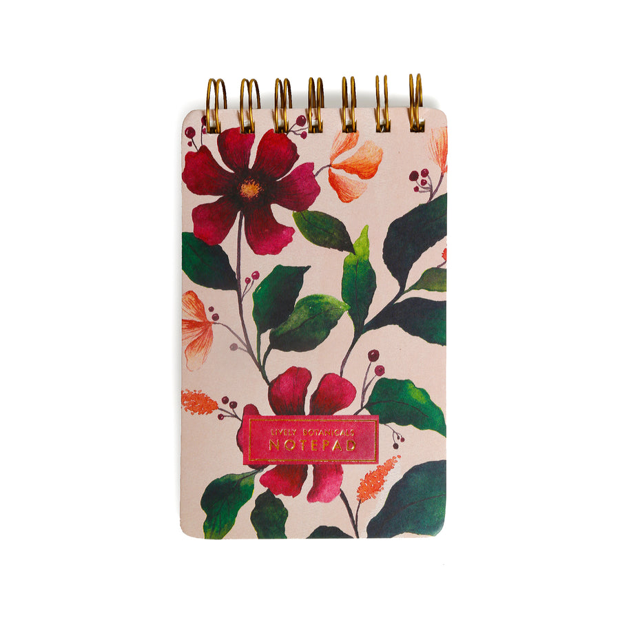 Lively Botanicals Notepad (Spring) - 7mm - Fine Paper Stationery