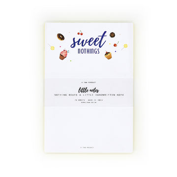 Sweet Nothings Notepad - 7mm - Fine Paper Stationery