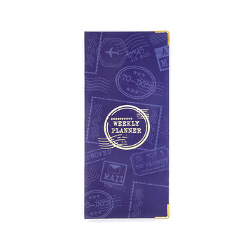Weekly Planner (Navy) - 7mm - Fine Paper Stationery