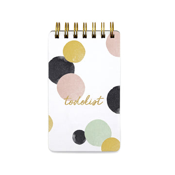 Wiro  Notepads (Polka) - 7mm - Fine Paper Stationery