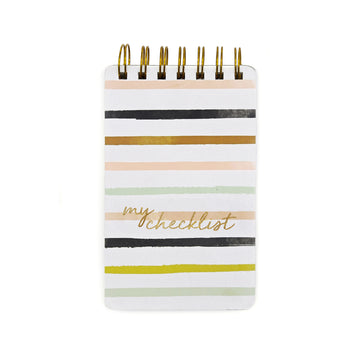 Wiro  Notepads (Stripes) - 7mm - Fine Paper Stationery
