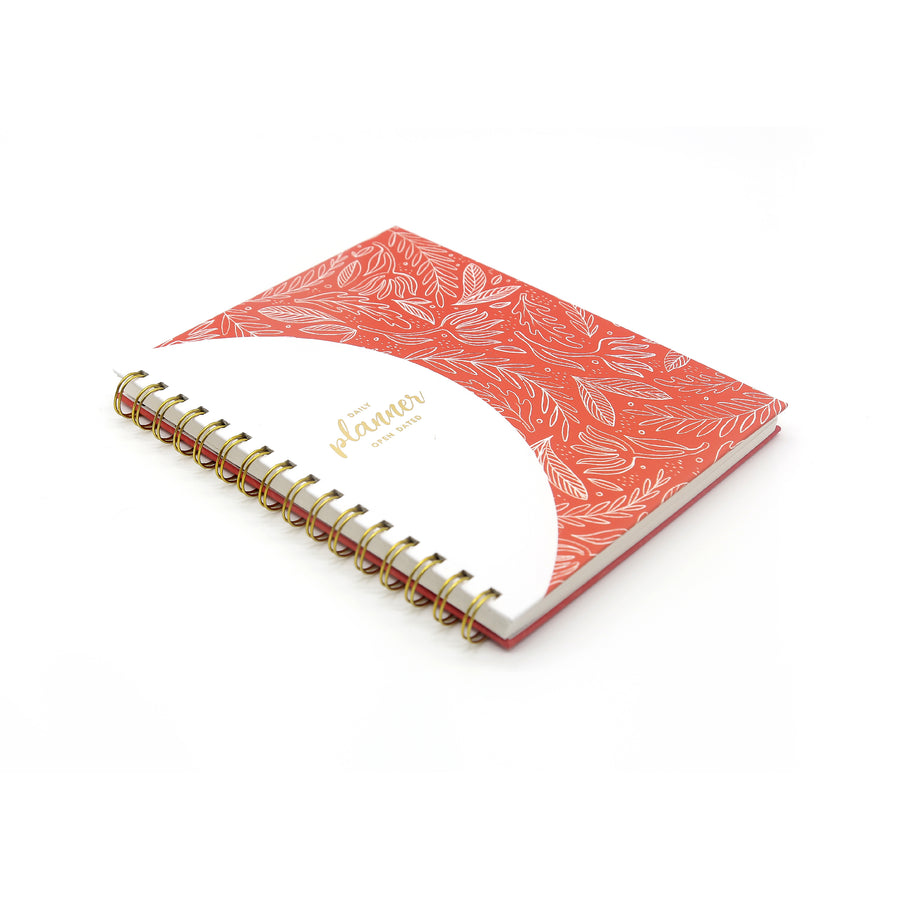 Daily Planner (Red) - 7mm - Fine Paper Stationery