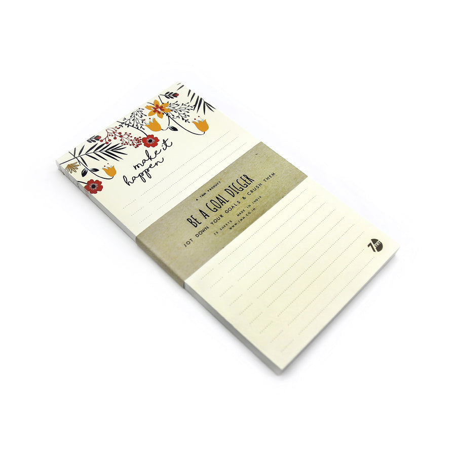 Make it Happen Notepad - 7mm - Fine Paper Stationery