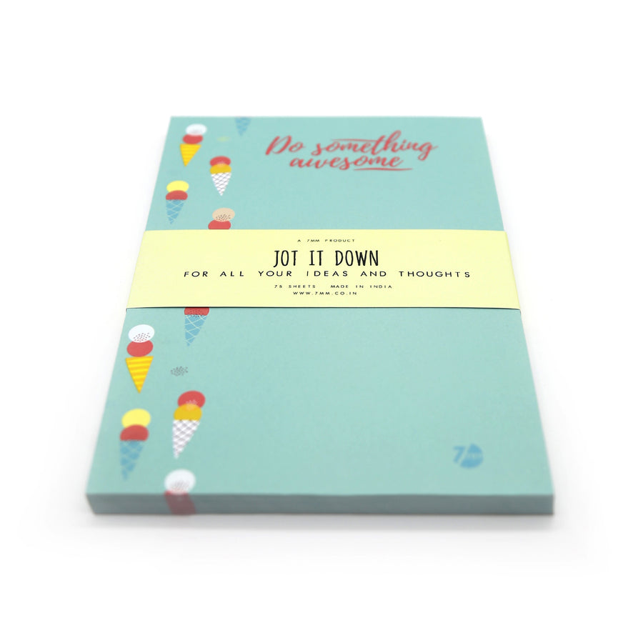 Do Something Awesome Notepad - 7mm - Fine Paper Stationery